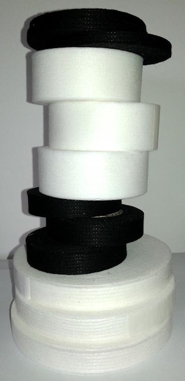 Vlieseline (instrijk) band op rolletjes