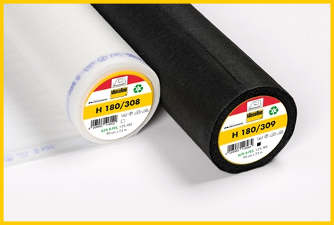 Plakvlieseline H180 in wit en zwart