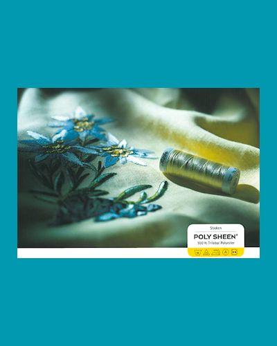Polysheen glimmend naai- en borduurgaren - kleurenkaart polysheen garen, kies deze als je borduurt of een glimmende rolzoom wilt