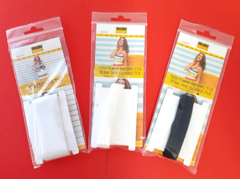 Vlieseline band: flexibel naadband en stretchfix zoomband