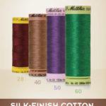 Silk finish katoenen garen