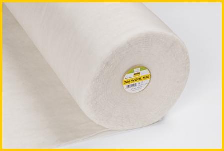 Wolmix een wollen volumevlies fiberfill van vlieseline, gebruikt in kleding, tassen maar niet met borduren