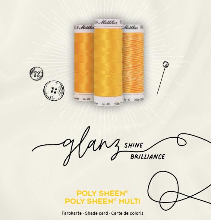 Polysheen en polysheen multi glanzend naai en borduur garen