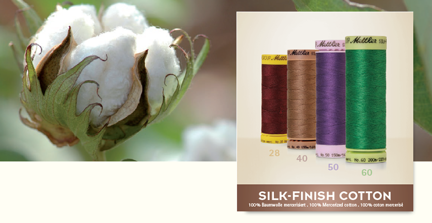 Silk finish cotton katoenen naaigaren