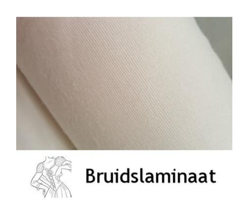 Kies Bruidslaminaat voor een stevig lijfje van een bruidsjurk in plaats van gewone vlieseline