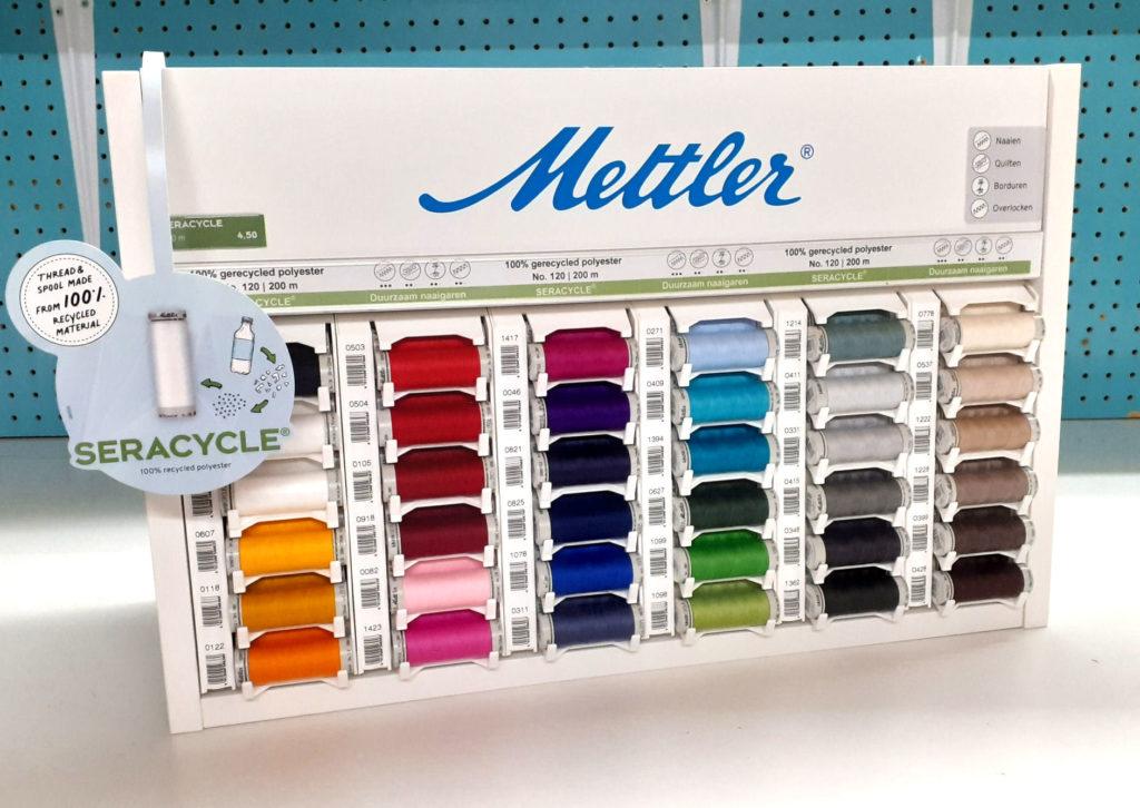 Garenkastje met alle kleuren SeraCYCLE - 100% duurzaam naaigaren van Mettler